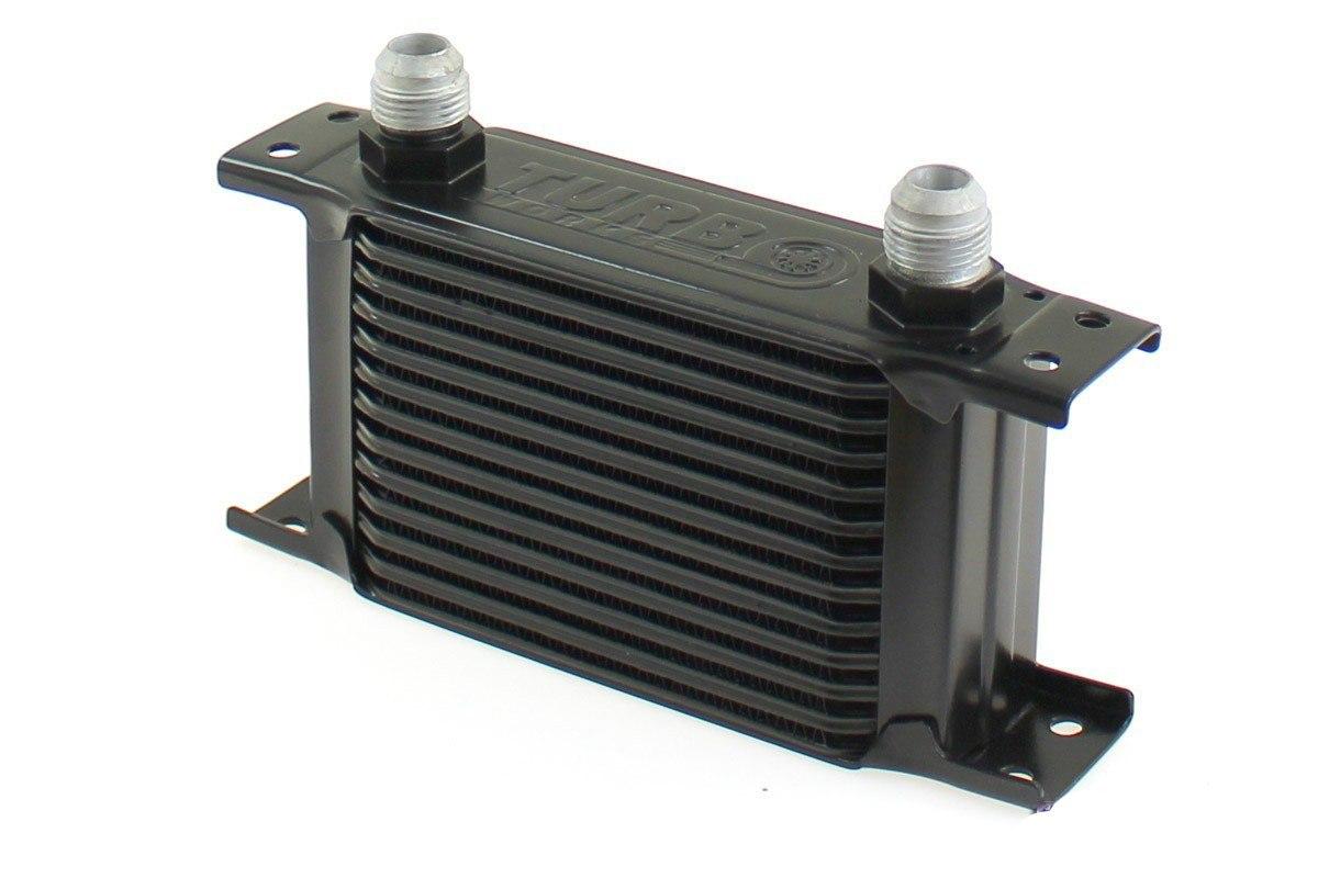 Chłodnica Oleju TurboWorks Slim Line 13-rzędowa 140x100x50 AN10 black - GRUBYGARAGE - Sklep Tuningowy